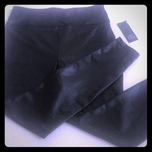 Faux leather black legging